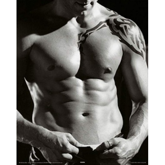 Mini Poster Black/White- Male Torso