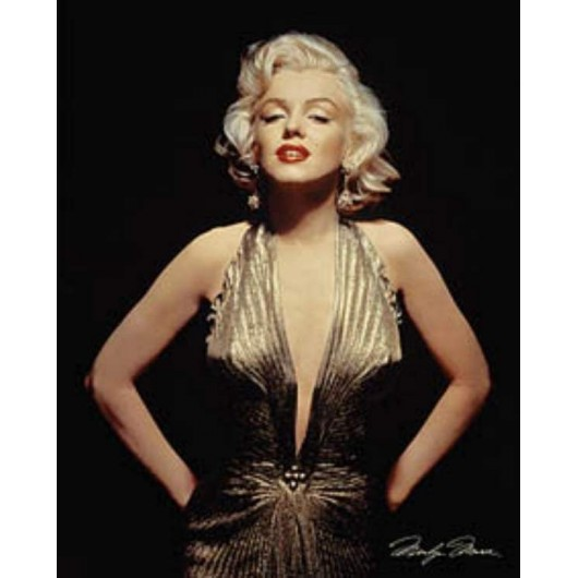 Mini Poster Marilyn Monroe (Gold)
