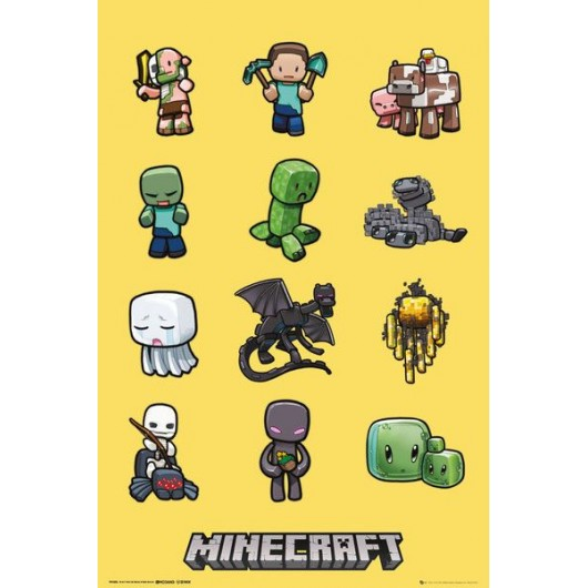 Maxi Poster Minicraft Characters