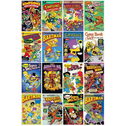 Maxi Poster The Simpsons Comic Covers