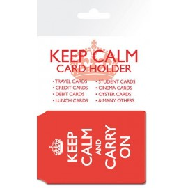 Card holder Keep Calm Carry On