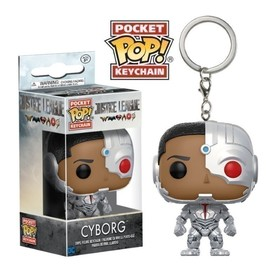 POP VINYL KEYCHAIN DC JUSTICE LEAGUE CYBORG