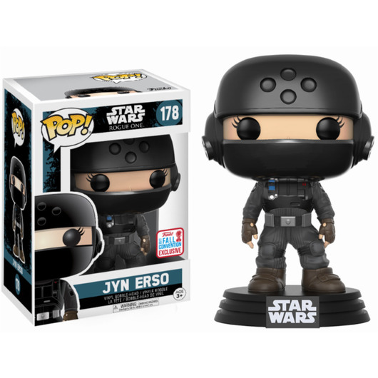 POP BOBBLE STAR WARS ROGUE ONE JYN DISGUISE W/ HELMET NYCC 2017 EXC