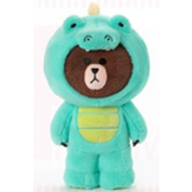 PELUCHE LINE FRIENDS BROWN DINOSAUR 12