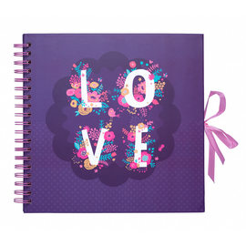 SCRAPBOOK ALBUM FOTO 26X26CM 40 PAGINAS LOVE
