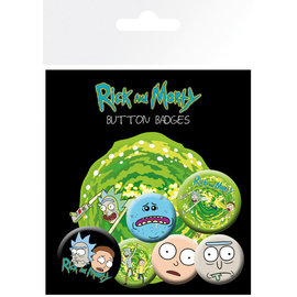 SET CHAPAS RICK Y MORTY PERSONAJES