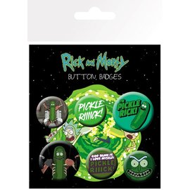 PACK CHAPAS RICK Y MORTY PICKLE RICK