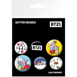PACK DE CHAPAS BT21 MIX