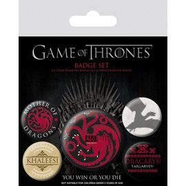 PACK CHAPAS JUEGO DE TRONOS (FIRE AND BLOOD)