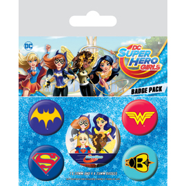 SET CHAPAS DC COMICS SUPER HERO GIRLS EMBLEMAS