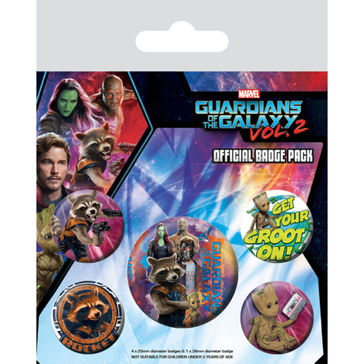 PACK CHAPAS GUARDIANS OF THE GALAXY VOL2 ROCKET AND GROOT