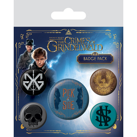 PACK CHAPAS ANIMALES FANTASTICOS THE CRIMES OF GRINDELWALD