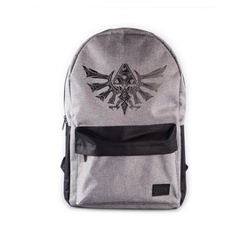 MOCHILA THE LEGEND OF ZELDA TRIFORCE GRIS