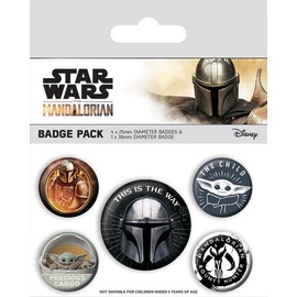 SET CHAPAS STAR WARS THE MANDALORIAN THIS IS THE WAY