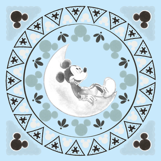 CANVAS 30X30 CM DISNEY MICKEY MOON