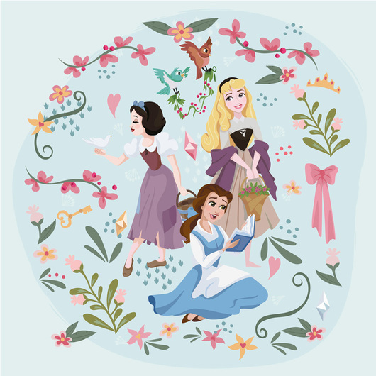 CANVAS 30X30 CM DISNEY PRINCESS