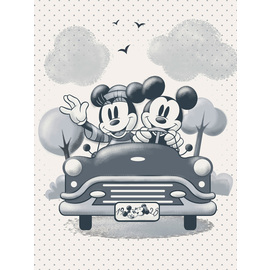CANVAS 30X40 CM DISNEY MICKEY Y MINNIE COCHE